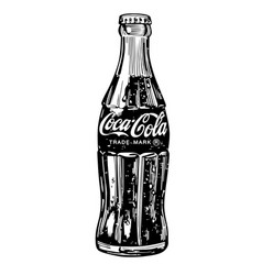Classic bottle coca-cola on white background vector