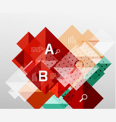 Colorful triangles and squares vector