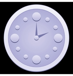 Dial hours in the dark vector image