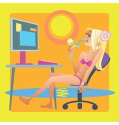 Downshifter programmer works resort computer vector image