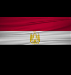 egypt flag flag of egypt blowig in the wind eps vector image