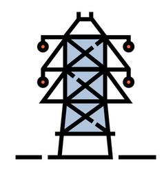 Electric pole linecolor vector