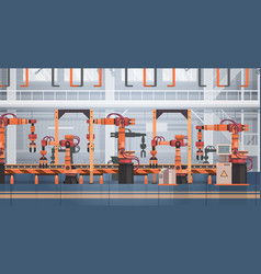 Factory production conveyor automatic assembly vector