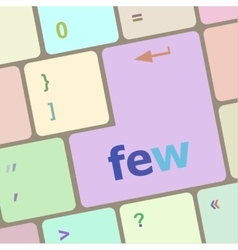 Few word on keyboard key notebook computer button vector