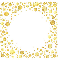 gold dotn vector image