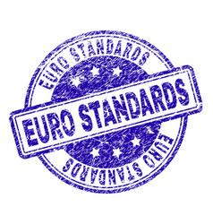 Grunge textured euro standards stamp seal vector