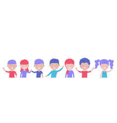 happy smiling kids boys and girls isolated on vector image