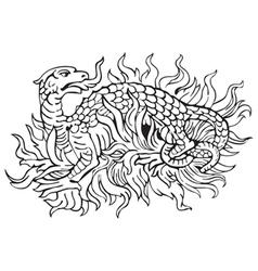 Heraldic dragon No12 vector