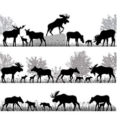 Herd of moose vector