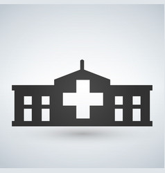 hospital icon cross building isolated human vector image