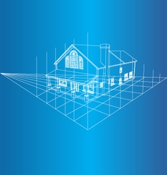 House 3D background vector image