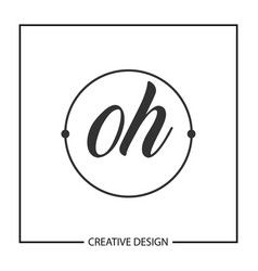 initial letter oh logo template design vector image