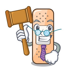 Judge sticking plaster isolated with on cartoon vector