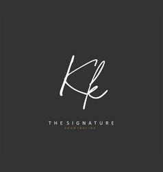 K kk initial letter handwriting and signature vector