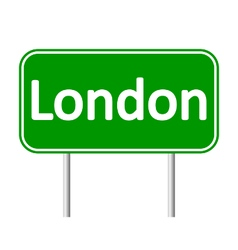 London road sign vector
