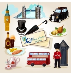 London Touristic Set vector image