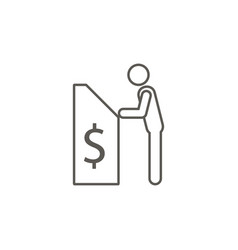 man and cashier machine icon simple element from vector image