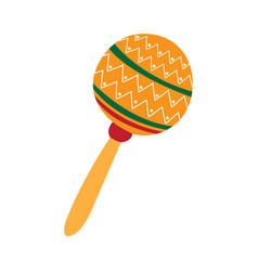 mexican maraca icon vector image
