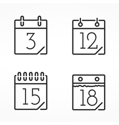 Minimal Calendar Icons vector
