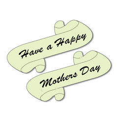 Mothers day scroll vector