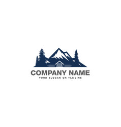 Mountain logo and garage vector