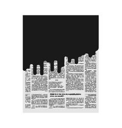 mud in newspaper bad news black page paper vector image