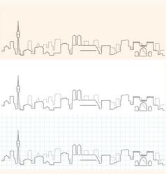 Munich hand drawn skyline vector