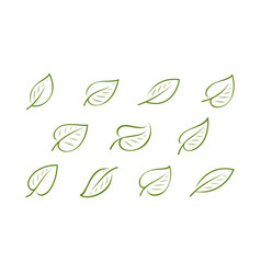 natural green leaf logo nature ecology icon or vector image