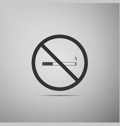 no smoking sign icon cigarette symbol isolated vector image