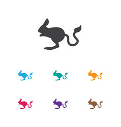 Of zoo symbol on desert rodent vector