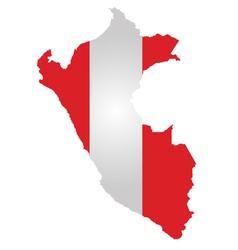 Peru Flag vector