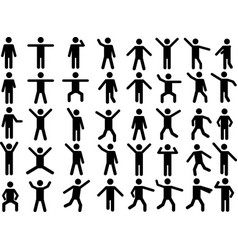 Pictogram people vector