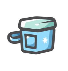 portable refrigerator box icon cartoon vector image