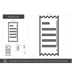 receipt line icon vector image
