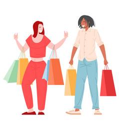romantic couple shopping vector image
