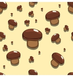 Seamless background edible mushroom vector
