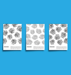 set charcoal pencil design background for vector image