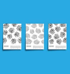 set charcoal pencil design background vector image