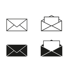 set envelopes icons vector image