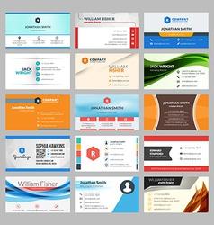 Set modern creative business cards vector