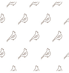 simple line style birds seamless pattern on vector image