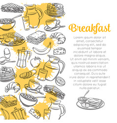 sketch breakfast layout vector image
