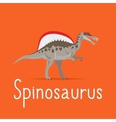Spinosaurus dinosaur colorful card vector
