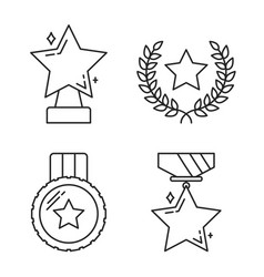 stars line icons vector image