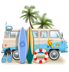 Surfing Weekend Concept vector