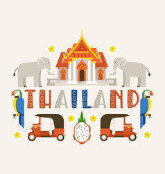 Thailand banner traditions culture country vector