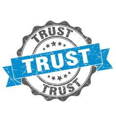trust stamp sign seal vector image