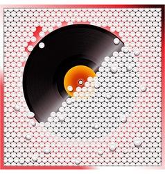 Vinyl record breaking white 3D circular tiles wall vector