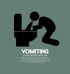 Vomiting Person Graphic Symbol vector image