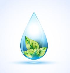 water drop vector image